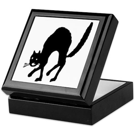 Vintage Halloween Black Cat II Keepsake Box