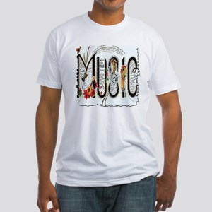 Music Fitted T-Shirt