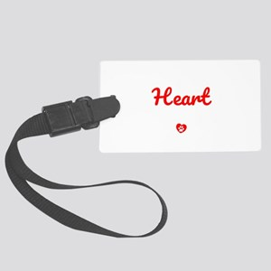The Road To My Heart Is Paved Wi Large Luggage Tag