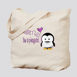 Omg Penguin Tote Bag