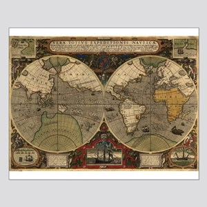 1595 Map of the Known World Small Poster