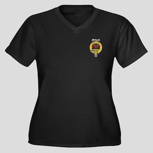 Clan McLeod Women's Plus Size V-Neck Dark T-Shirt
