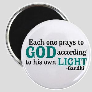Each One Prays To God Magnet