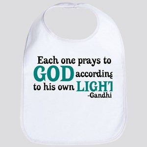 Each One Prays To God Bib