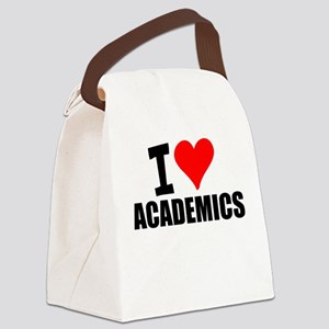 I Love Academics Canvas Lunch Bag