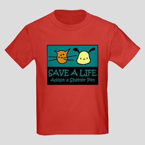 Save A Life Adopt a Pet Kids Dark T-Shirt