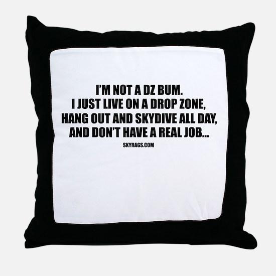 DZ BUM Throw Pillow