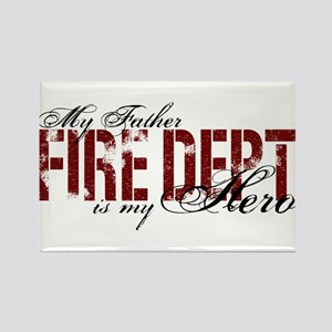 My Father My Hero - Fire Dept Rectangle Magnet