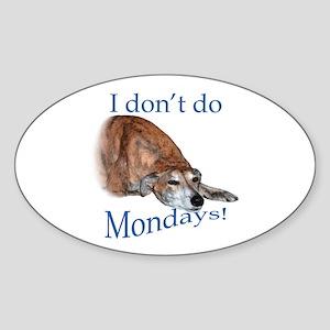 Greyhound Monday Oval Sticker