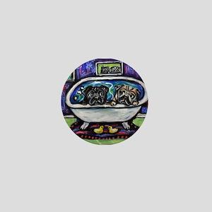 Pugs bath Mini Button (10 pack)