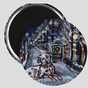 Dalmatian holiday Magnet