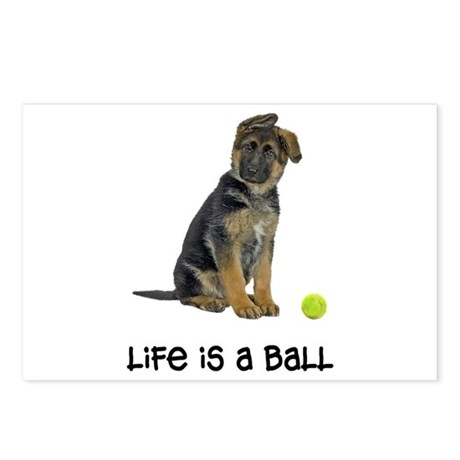 German Shepherd Life Postcards (Package of 8)