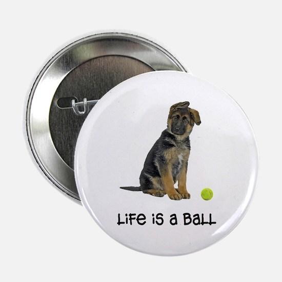 "German Shepherd Life 2.25"" Button"
