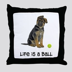 German Shepherd Life Throw Pillow