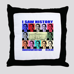 I Saw History, Inauguration D Throw Pillow