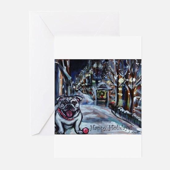 English Bulldog holiday Greeting Cards (Pk of 10)