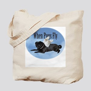 When Pugs Fly Tote Bag
