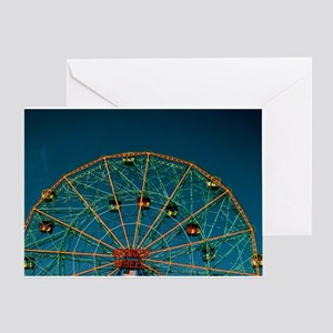 CONEY's WONDER WHEEL BLANK Greeting Card