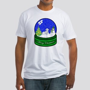 Snow Globe Dalmatian Fitted T-Shirt