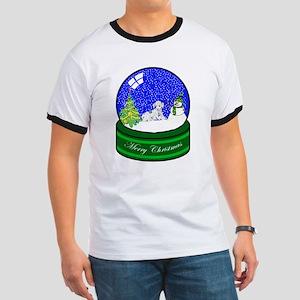 Snow Globe Dalmatian Ringer T