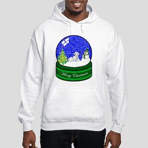 Snow Globe Dalmatian Hooded Sweatshirt