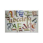 Brush Calligraphy Sampler Magnet