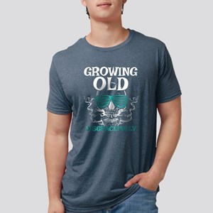 Growing Old Gift for Old Man Punk Rockers, T-Shirt