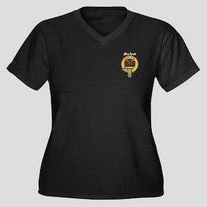 Clan MacLeod Women's Plus Size V-Neck Dark T-Shirt