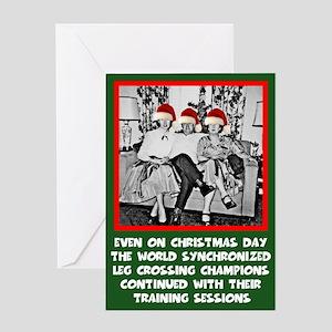 Funny photo funny slogan Christmas Greeting Card