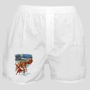 SANTA & HIS REINDEER Boxer Shorts