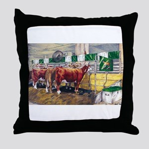 """Color of Money"" Hereford Throw Pillow"