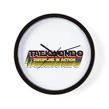 TKD Belt Colors: Discipline in Action Wall Clock