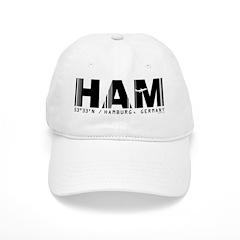 Hamburg Airport Code Germany HAM Baseball Cap