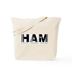 Hamburg Airport Code Germany HAM Tote Bag