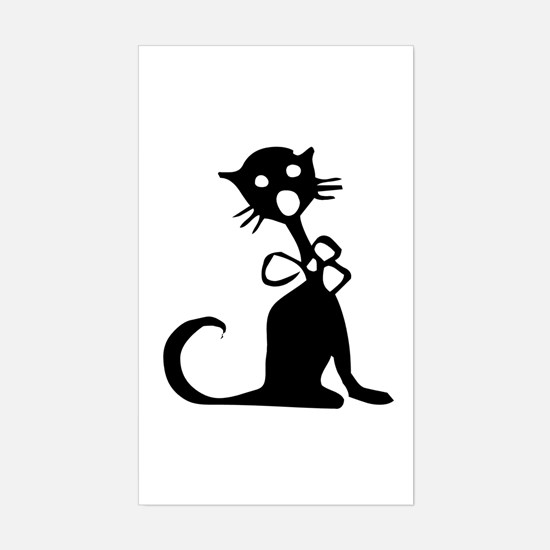 1950's Singing Black Cat Rectangle Decal