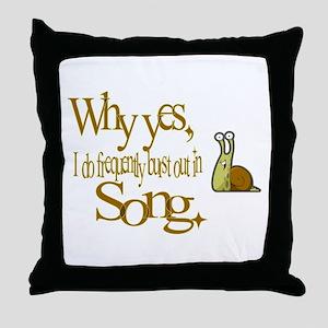 Burst in Song Throw Pillow