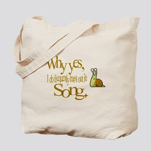 Burst in Song Tote Bag