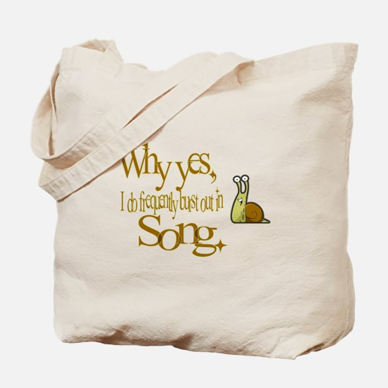 Burst in Song Tote Bag