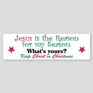 Jesus is my reason Sticker (Bumper)