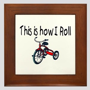 This Is How I Roll (Tricycle) Framed Tile