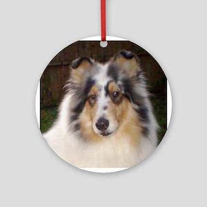 Collies Ornament (Round)
