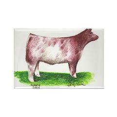 Shorthorn Steer Rectangle Magnet (100 pack)