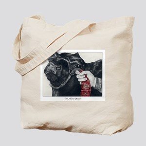 """One Man's Opinion"" Tote Bag"