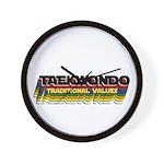 TKD Belt Colors: Traditional Values Wall Clock