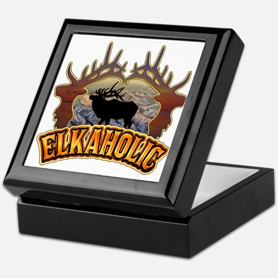 elkaholic elk hunter gifts Keepsake Box