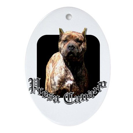 Presa Canario Oval Ornament
