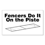 Fencers Do It Rectangle Sticker