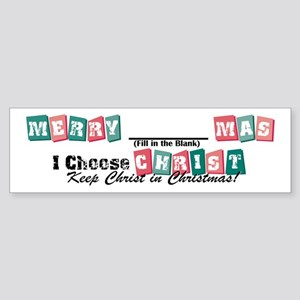 Merry blank mas2 Bumper Sticker