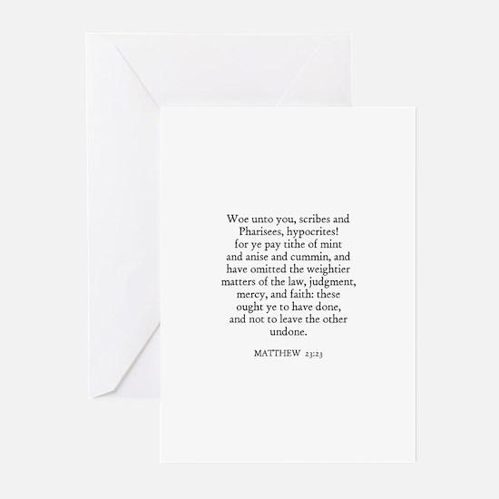 MATTHEW  23:23 Greeting Cards (Pk of 10)
