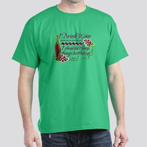 I Drink Wine Funny Quote T-Shirt
